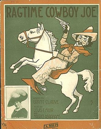 Ragtime Cowboy Joe - 1912 sheet music cover