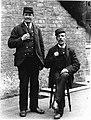 Railway station guards at Cherry Burton circa 1910 (archive ref DDX1319-2-9) (25742715871).jpg