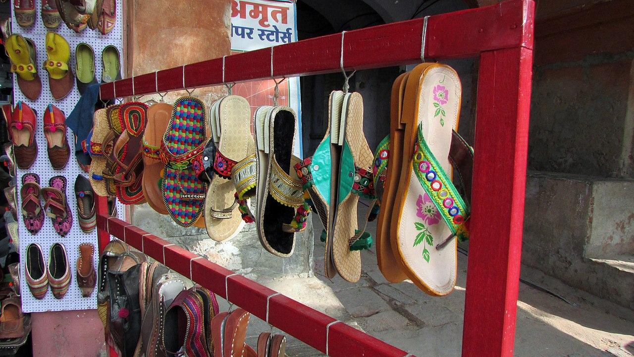 File rajasthani style leather jooti local artwork jaipur for Decor india jaipur