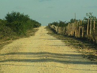 Webb County, Texas - Typical Webb County ranch road north of Texas State Highway 359 (2012)
