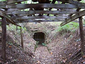 Fort Wright (Tennessee) - Image: Randolph TN Ft Wright powder mag entrance vi