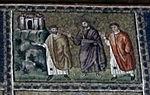 Ravenna, sant'apollinare nuovo, int., storie cristologiche, epoca di teodorico 14.jpg