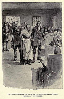 Rebecca Nurse Convicted of witchcraft during the Salem witch trials
