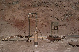 In situ leach - Recovery well at former San Manuel operation.