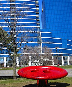 Red button, Bridgewater Place, GR