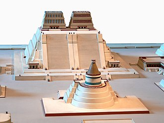 Templo Mayor - Scale model of the twin Great Temple of Tenochtitlan