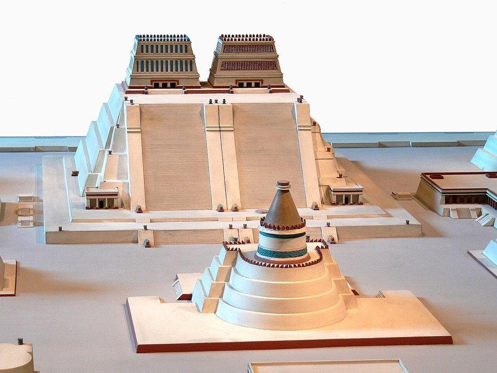 Rekonstruktion Tempelbezirk von Tenochtitlan 2 Templo Mayor 3