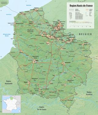 Frankreich Karte Stadte.Hauts De France Wikipedia