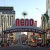 The Reno arch in downtown Reno, Nevada.