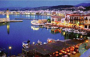 Rethymnon, Crete, Greece: Harbour at night