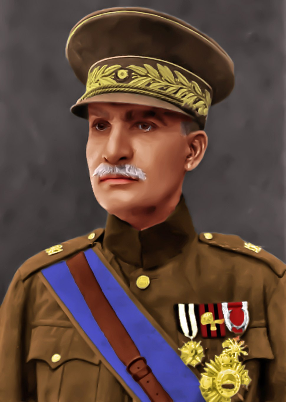 Reza Shah Pahlavi Official Portrait - Colorized 2