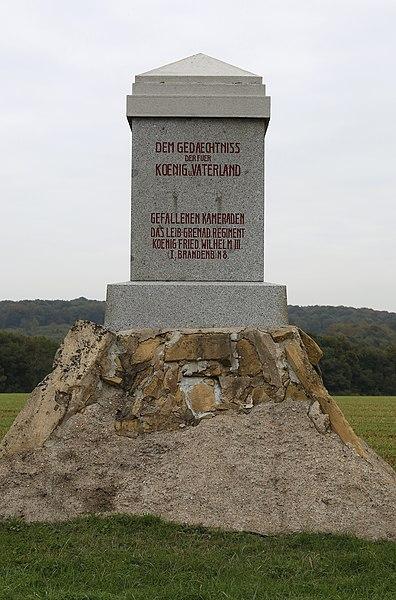"""Franco-Prussian War memorial for the Leib-Grenadier-Regiment """"König Friedrich Wilhelm III."""" (1. Brandenburgisches) Nr. 8 in Rezonville,  Lorraine, France"""