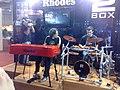 Rhodes Mk7 & 2 Box, Expomusic 2010.jpg