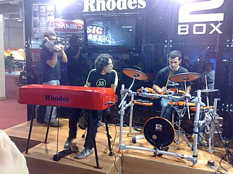 Electric piano - Rhodes Mark 7 (2009) on stage