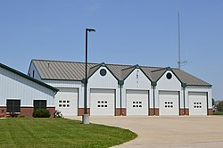 Township fire station at Richfield Center