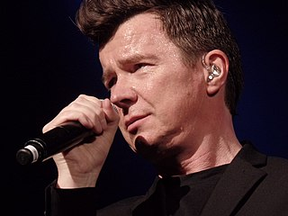 Rick Astley British singer and songwriter