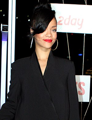"Billboard Year-End Hot 100 singles of 2012 - Barbadian singer Rihanna's ""We Found Love"" came in at  number 69 in 2011 and rose to position 8 this year.  She had a total of six songs included on the list, with her as a lead artist on 5 songs. Four of which were from her sixth album Talk That Talk, and one was from her seventh album Unapologetic."