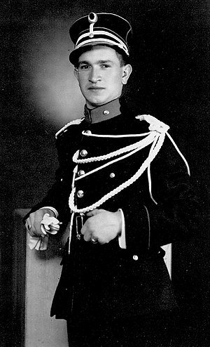 Gendarmerie (Belgium) - A portrait of a member of the Belgian Rijkswacht/Gendarmerie in 1947