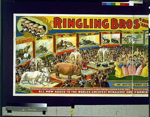 Ringling Bros' ... aviary and aquarium ... largest zoological exhibit on earth LCCN98500095