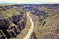 Rio Grande River from Rio Grande Gorge Bridge, Taos.jpg