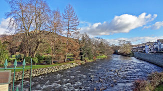 Der River Greta in Keswick