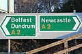Road sign, Dundrum Road (01), January 2010.JPG