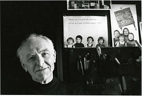 Robert Doisneau photographed by Bracha L. Ettinger in his studio in Montrouge, 1992.jpg