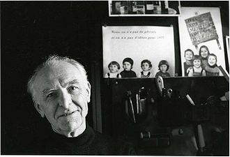 Bracha L. Ettinger - Robert Doisneau photographed by Ettinger in his studio in Montrouge, 1992.
