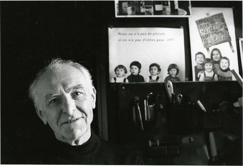 File:Robert Doisneau photographed by Bracha L. Ettinger in his studio in Montrouge, 1992.jpg image