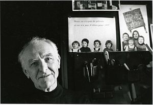 Robert Doisneau photographed by Ettinger in his studio in Montrouge, 1992