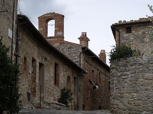 Ex-Church Chiesa del Palazza on Piazza Cisterna in Rocca d'Orcia, Castiglione d'Orcia, Val d'Orcia