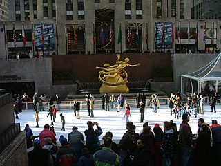 Ice rink frozen body of water and/or hardened chemicals where people can ice skate or play winter sports