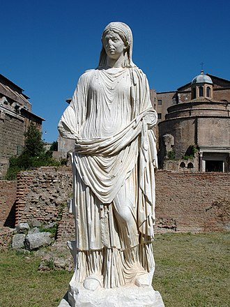 House of the Vestals - Roman sculpture, House of the Vestals, Forum Romanum