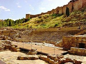 English: Roman theater of Malaga Español: Teat...
