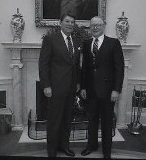 Maine gubernatorial election, 1960 - Image: Ronald Reagan and John H. Reed 1982