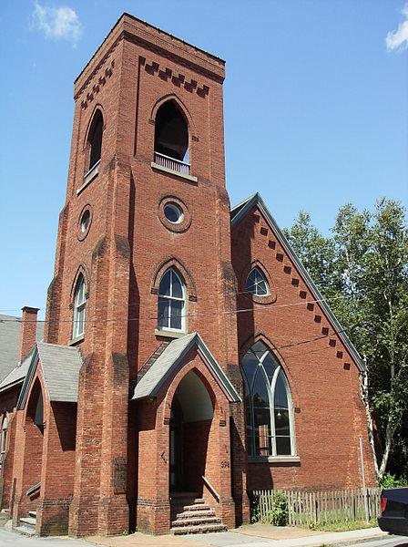 File:Rosendale, NY - Dutch Reformed Church - Belltower Lighting.jpg