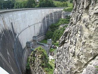 Lake of Gruyère - Rossens dam