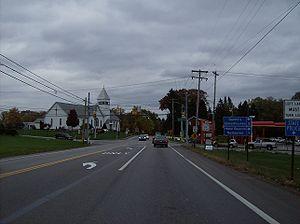Meridian, Pennsylvania - Along Pennsylvania Route 68 in western Meridian