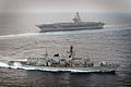 Royal Navy Type 23 Frigate HMS St Albans on Exercise with USS George W Bush MOD 45153210.jpg