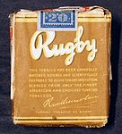 Rugby cigarettes backside, Turmac tobacco co, Amsterdam.JPG