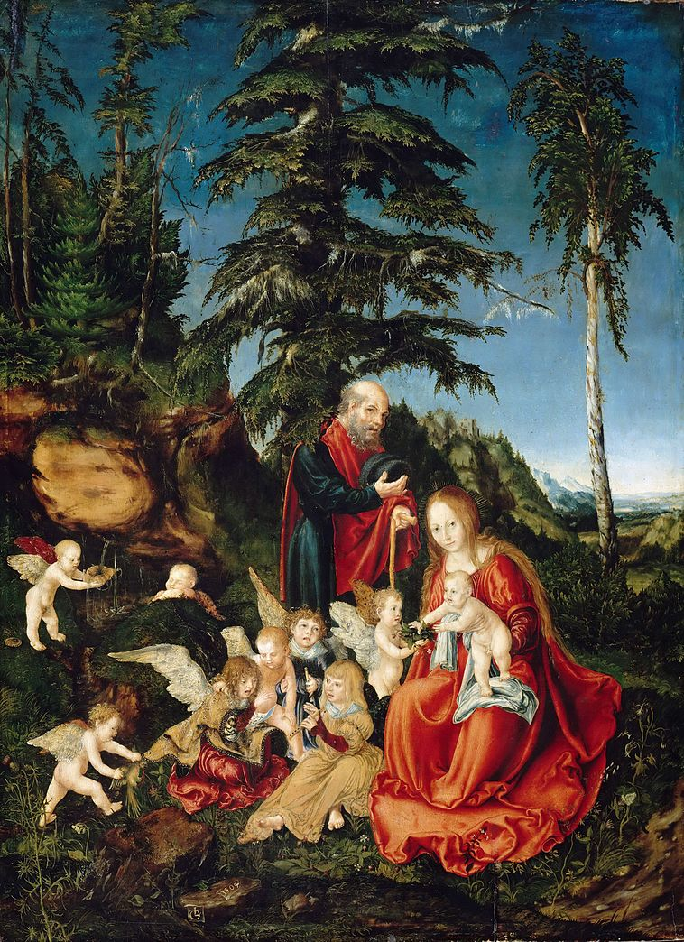 familie in landschaft - Bildbeschreibung Kunst Beispiel