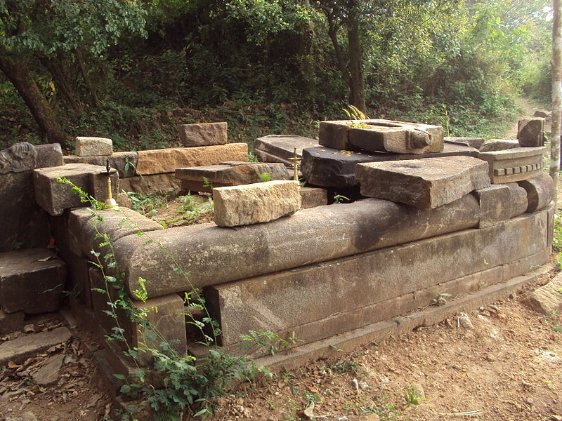 Ruins of an ancient Jain temple in Arimbra