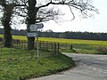 Rural crossroads with metal fencing - geograph.org.uk - 397577.jpg