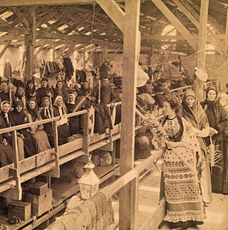 Russian Compound - Pilgrims in the Russian Compound (1890s)