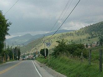 La Calera, Cundinamarca - Road to La Calera