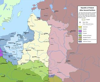 Second Partition of Poland - Image: Rzeczpospolita Rozbiory 2