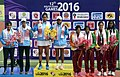S. Balu and P. Thomsre (INDIA) won the Gold Medal in the doubles Women's Tennis Championship, at the 12th South Asian Games-2016, in Guwahati on February 11, 2016.jpg