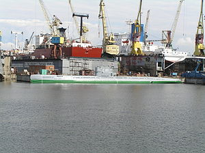 Admiralty Shipyard - Russian submarine S-189 (project 613) Whiskey class in Saint-Petersburg, Russia (July 2007); being turned into a museum