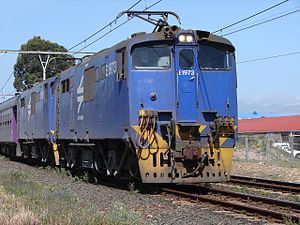 South African Class 6E1, Series 8 - No. E1973 leading the Premier Classe at Stikland, Cape Town, 17 November 2006