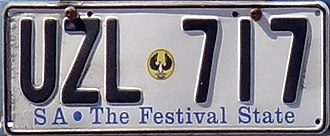 Vehicle registration plates of South Australia - SA – The Festival State